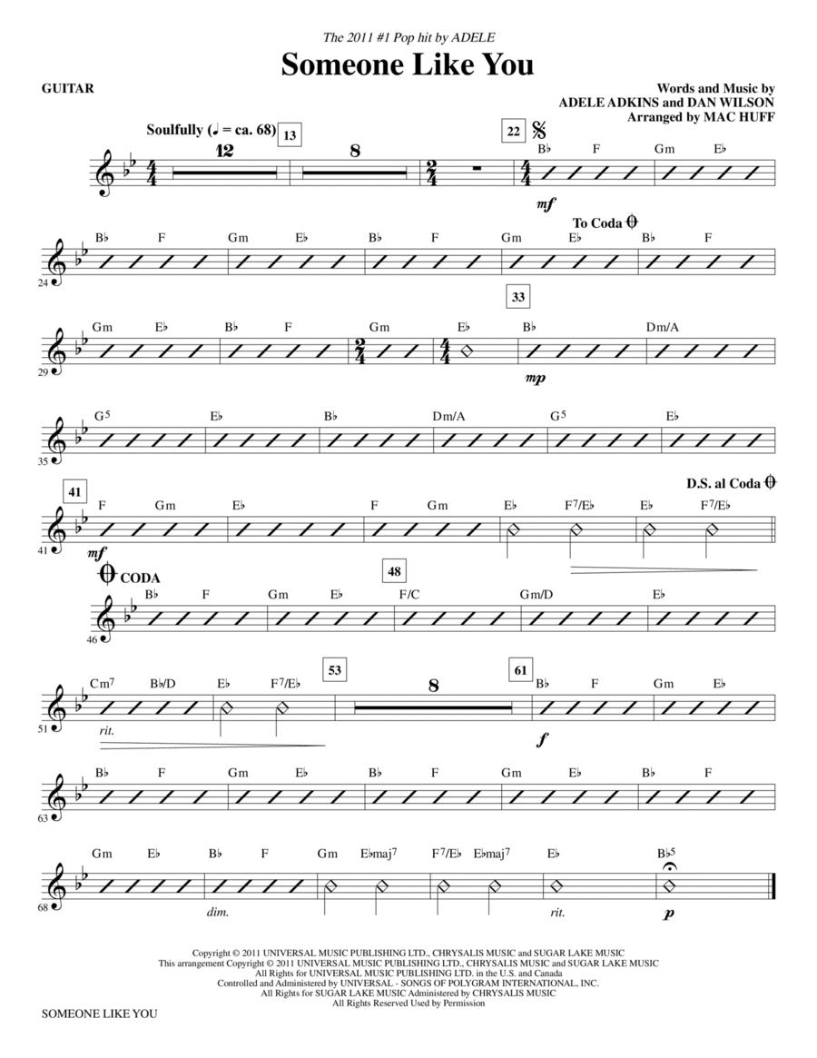 Someone Like You - Guitar
