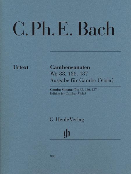 Gamba Sonatas, Wq 88, 136, 137