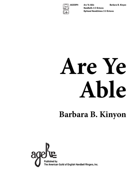 Are Ye Able?