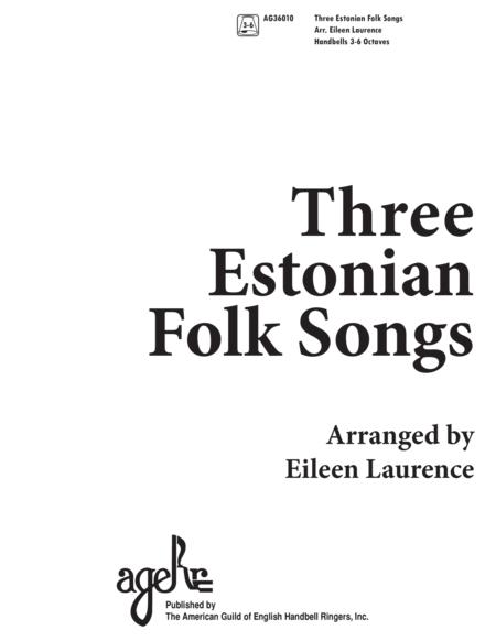Three Estonian Folk Songs