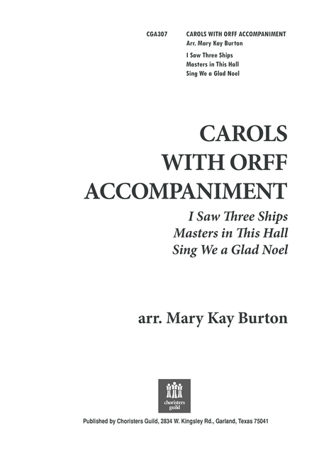 Carols with Orff Accompaniment