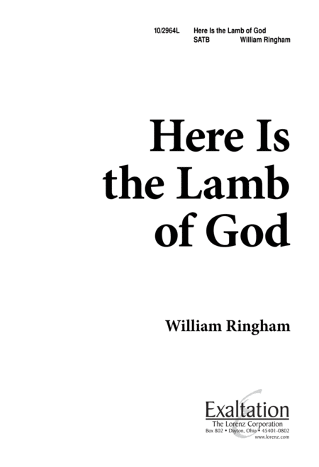 Here is the Lamb of God
