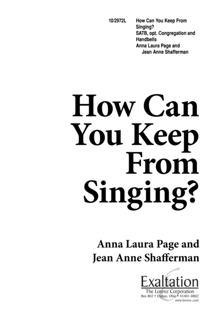 How Can You Keep from Singing?
