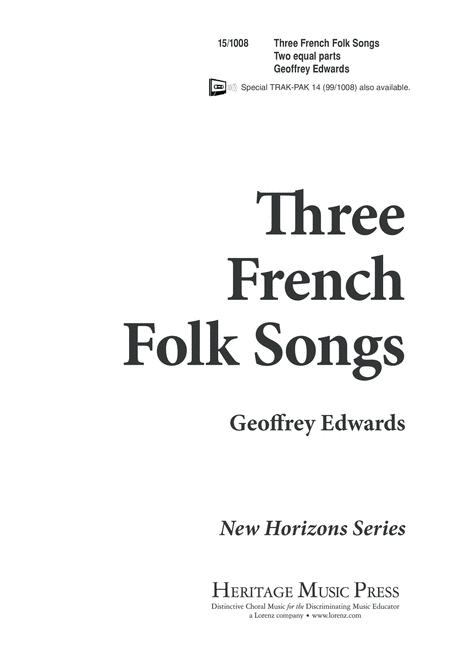 Three French Folk Songs