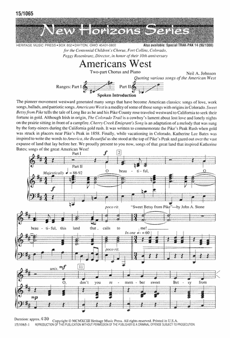 Americans West
