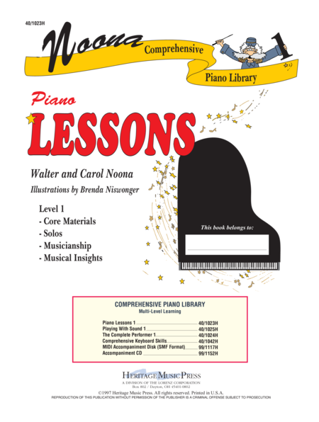 Noona Comp Piano Lessons Level 1