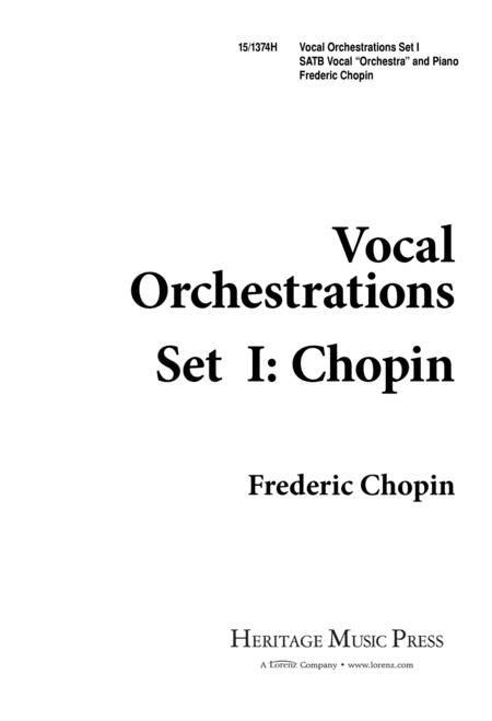 Vocal Orchestrations Set 1: Chopin