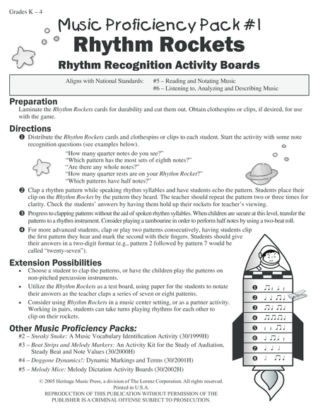 Music Proficiency Pack #1 - Rhythm Rockets