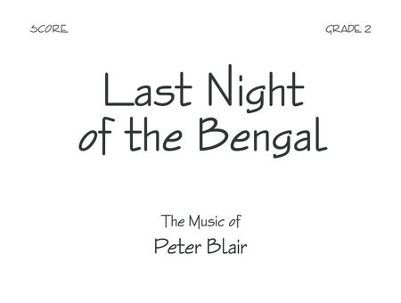 Last Night of the Bengal - Score