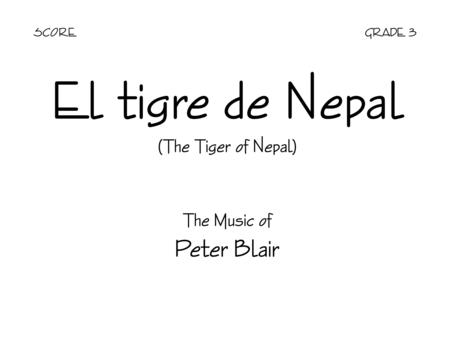 El tigre de Nepal - Score