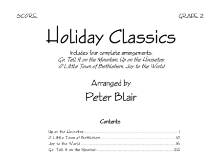 Holiday Classics - Score