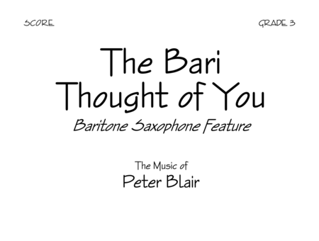 The Bari Thought of You - Score