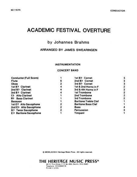 Academic Festival Overture Full Score