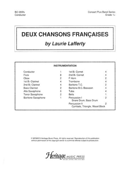 Deux Chansons Francaises Full Score