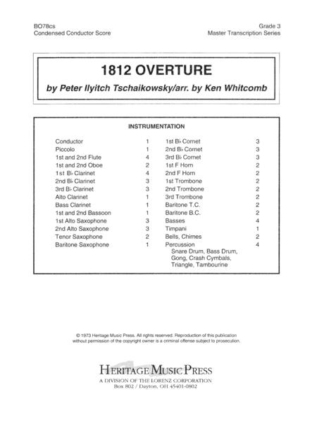1812 Overture Condensed Score