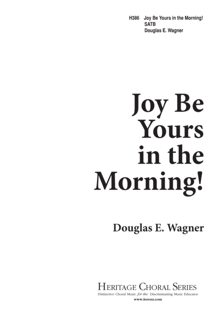Joy Be Yours in the Morning