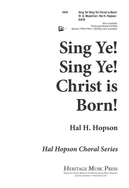 Sing Ye, Sing Ye, Christ is Born