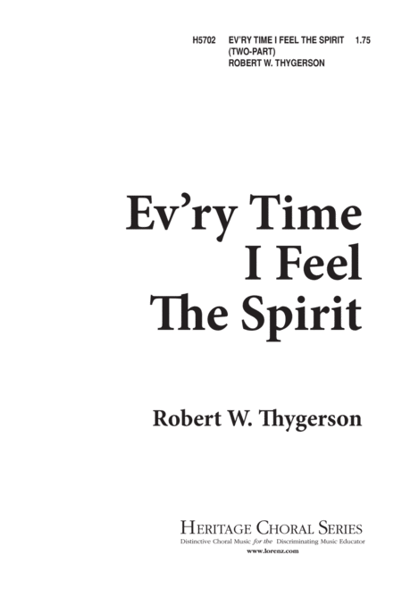 Ev'ry Time I Feel the Spirit