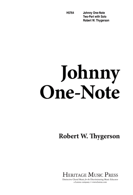 Johnny One-Note