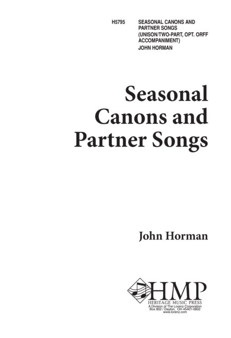 Seasonal Canons and Partner Songs