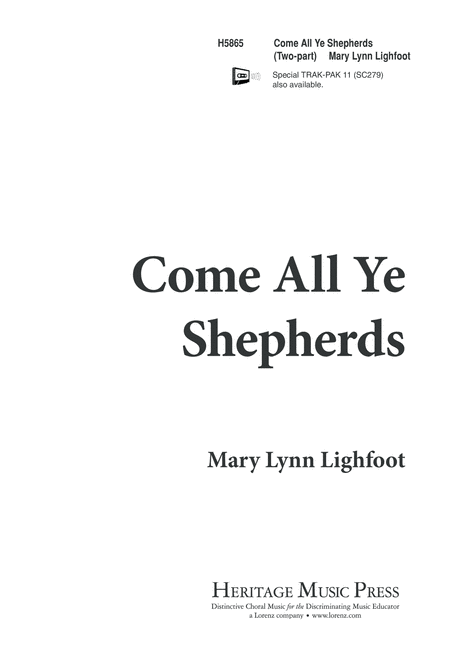 Come, All Ye Shepherds
