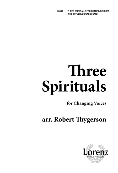 Three Spirituals for Changing Voices