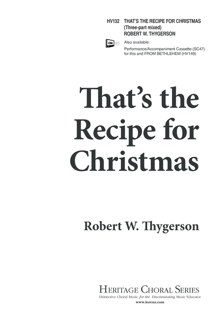 That's the Recipe For Christmas
