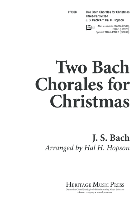 Two Bach Chorales for Christmas