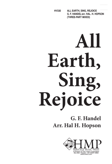 All Earth Sing Rejoice