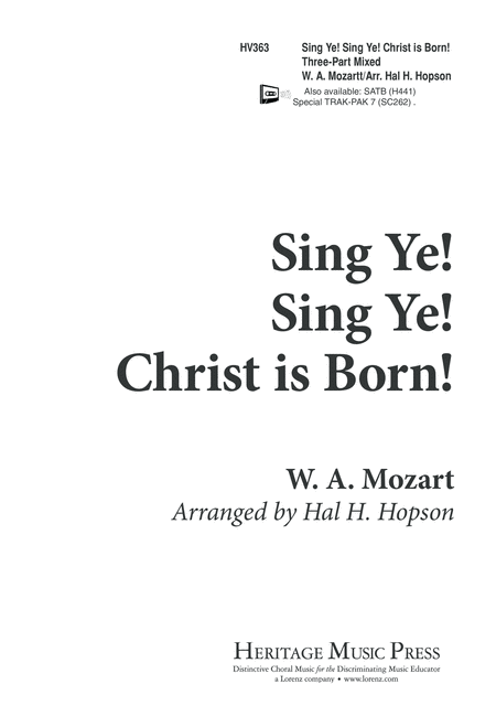 Sing Ye, Sing Ye, Christ is Born