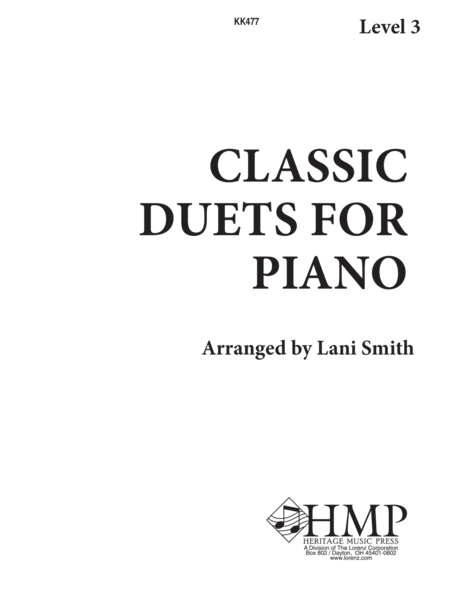 Classic Duets for Piano - Level 3