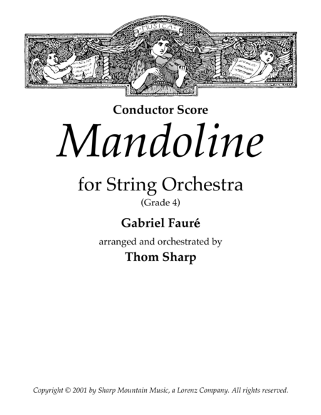 Mandoline for String Orchestra - Score