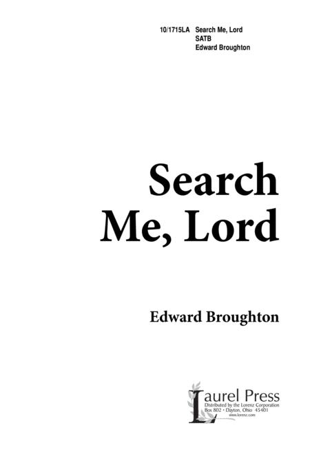 Search Me, Lord