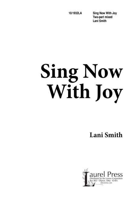 Sing Now With Joy