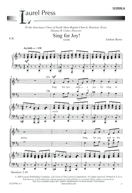 Sing for Joy