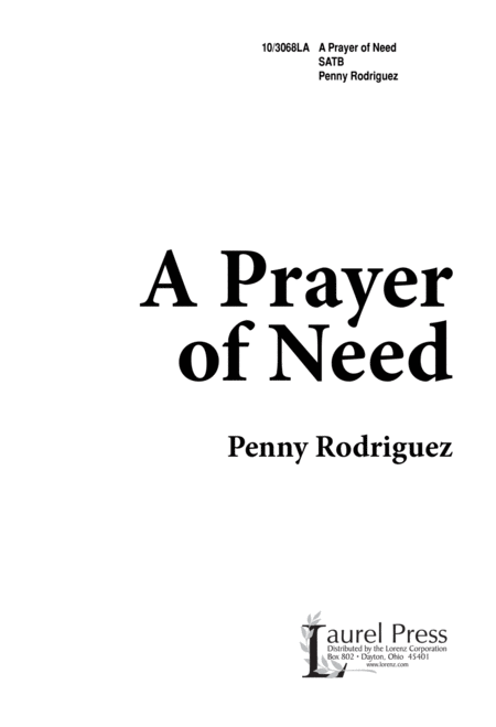 A Prayer of Need