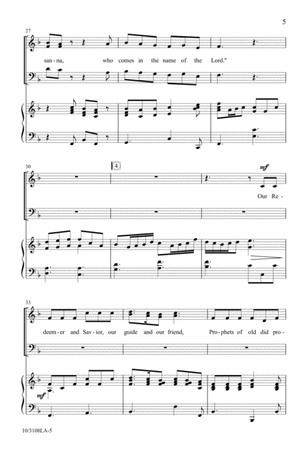 Hosanna We Sing