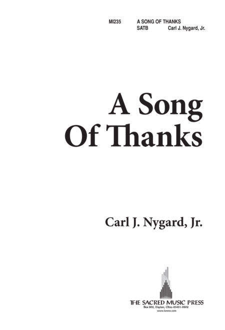 A Song of Thanks
