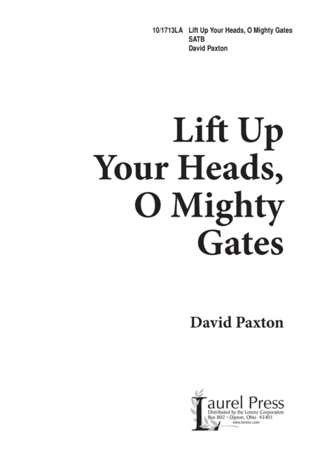 Lift Up Your Heads, O Mighty Gates