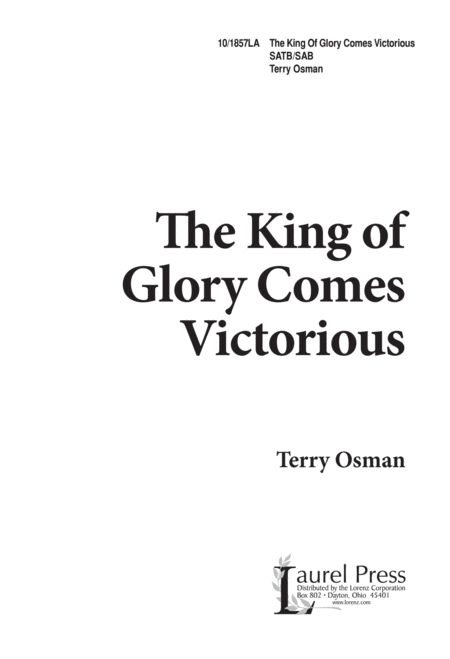 The King of Glory Comes Victorious
