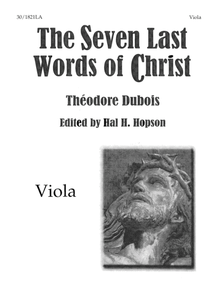 The Seven Last Words of Christ - Viola