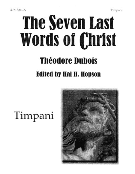 The Seven Last Words of Christ - Timpani