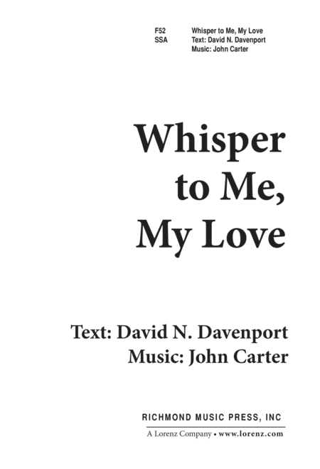 Whisper to Me My Love