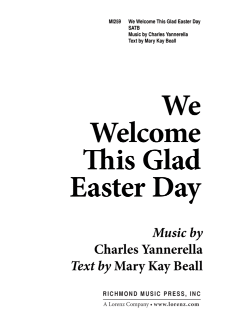 We Welcome This Glad Easter Day