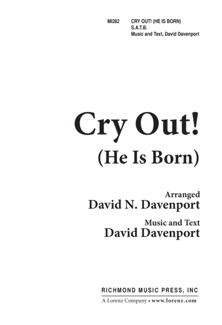 Cry Out (He Is Born)
