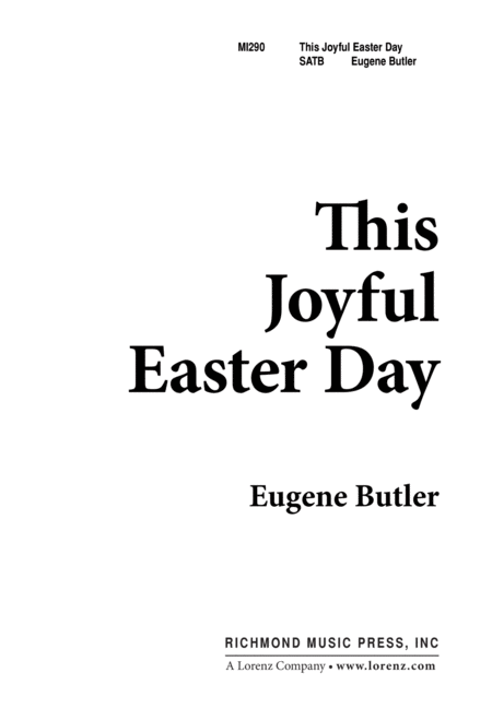 This Joyful Easter Day