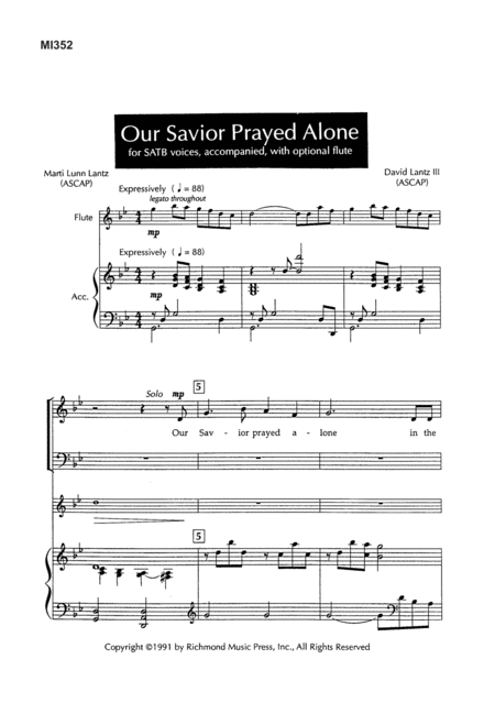 Our Savior Prayed Alone
