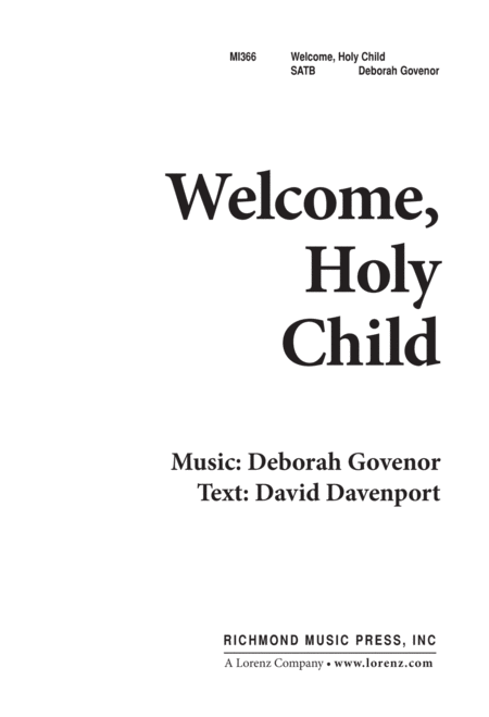 Welcome, Holy Child