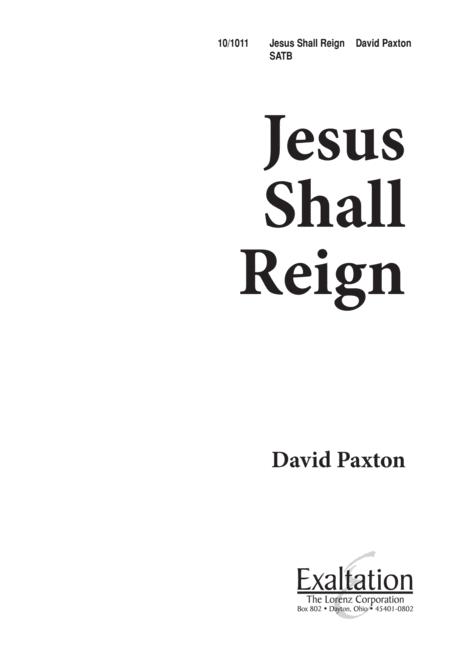 Jesus Shall Reign
