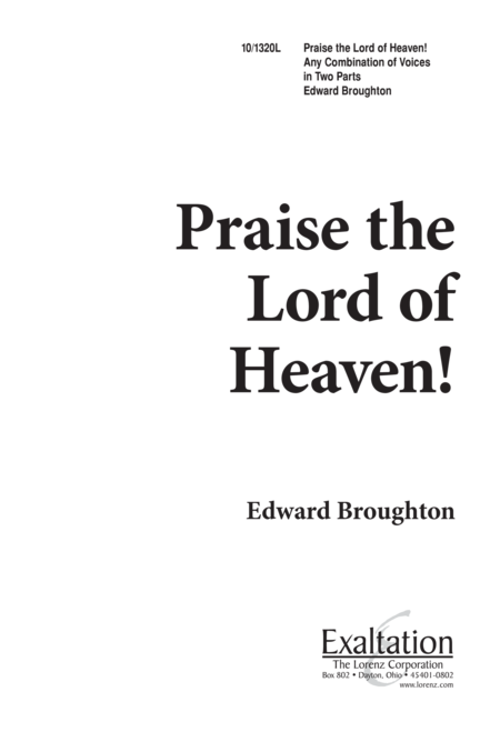 Praise the Lord of Heaven